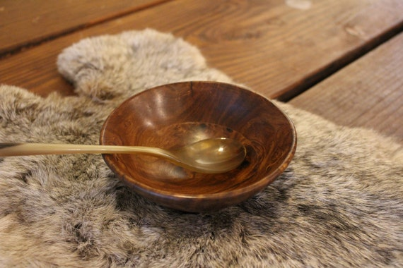 Blemish Wood Bowl And Spoon