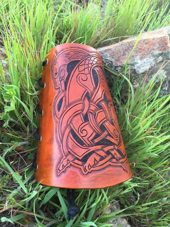 Celtic Beast Knot Arm Guard-Bracers