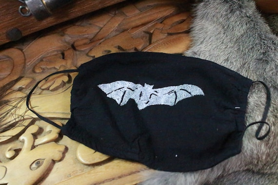Ready To Ship Face Mask 100% Cotton Reusable Washable Unisex Adult Mask With Filter Pocket  - Halloween Bat