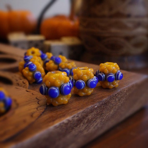 Celt Age Fall Yellow Glass Bead Replica