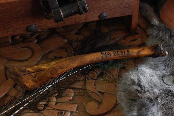Runic Goat Femur dedicated to Thor