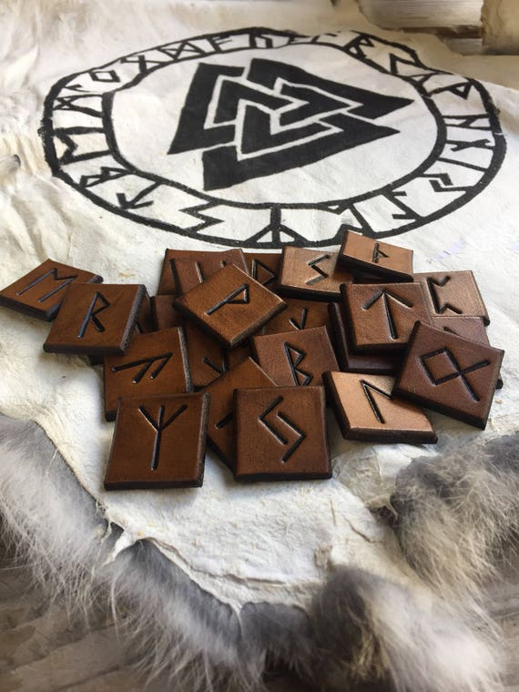 Leather Rune Set