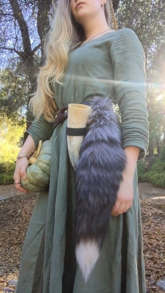 Real Silver Fox Tail