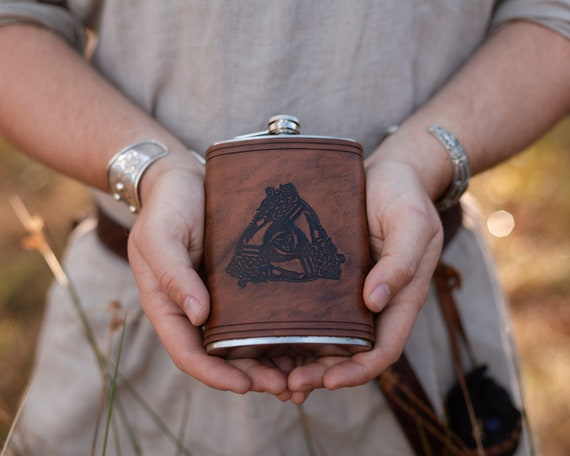 Odins Horns Drinking Flask
