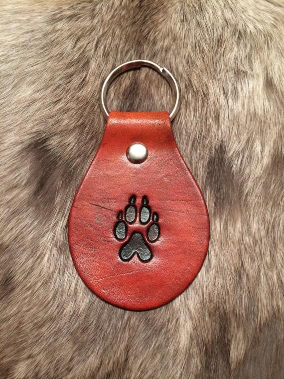 Charming Wolf Print Keychain