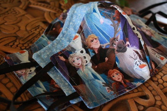 Face Mask Cotton Reusable Washable Unisex Adult and Children's Frozen Anna and Elsa