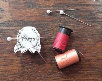 Premium Needle Minder // Paris // Millinery Tools // Sewing Haberdashery // Stocking Stuffer Gifts