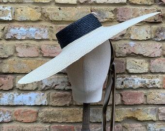 Cartwheel Hat/Ladies Boater Summer Hat