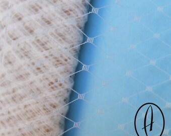 Ivory Birdcage Veiling // Small Window Netting // Wedding Millinery // Fascinator Supplies // Hat Making