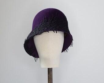 Handmade Cloche Hat // 1920s style felt hat