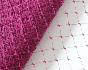 Plum Color // Large Window Millinery Net // Birdcage Veiling // Wedding Fascinator // Merry Widow // 1 meter - Wine