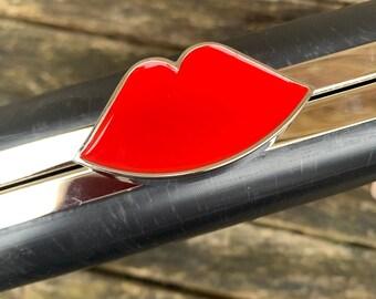 Red Lips Bag Frame // Clutch Bag Frame // Purse Frame // Metal Frame