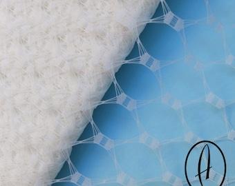 Waffle Weave Vintage Replica Net Veiling for wedding veils, Fascinators & Millinery 1m (1.09 yards) - Cream Ivory