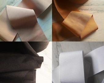 Extra Wide Vintage Grosgrain Ribbon- 7, 10 & 14cm wide // black, latte brown, white, mustard gold // 1m length