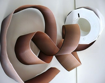"""5 Meters (5.4 yards) of Gradient French Wired Ribbon // Shaded Bronze // 1.5"""" wide (3.5 cms)"""