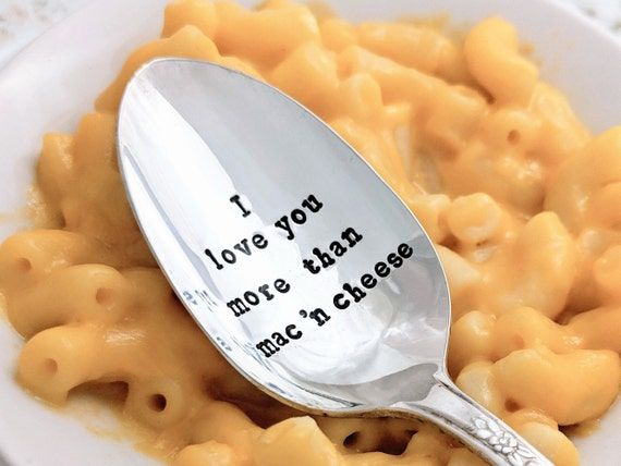 Cheese Lover Gift Gift for Little Girl Mac and Cheese Gift Hand Stamped Teaspoon Ready Made Mac and Cheese Culinary Gift