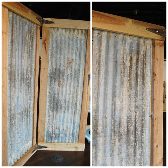 FREE SHIP Industrial Room Divider Screen Bifold with Etsy