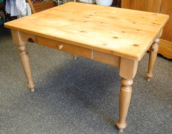 Free Ship Primitive Farm Table Large Rustic Pine Weathered Etsy