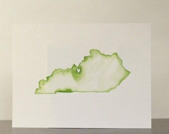 Customized Original Watercolor State