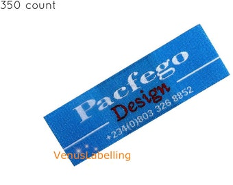 Clothing Woven Labels Custom Label Embroidered Patches Printing Text Onlyfree Ship By Express Post 350 Count