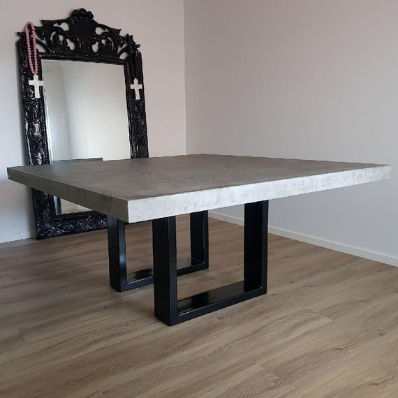 8 Seater Square Concrete Dining Table 1 6m X 1 6m Bespoke Etsy