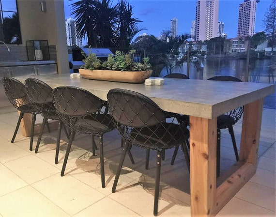 2 7m 8 To 10 Seater Bespoke Polished Concrete Dining Table Etsy