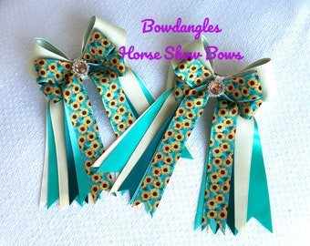 Sunflower Show  Bows, Beautiful Green Bowdangles Show Bows