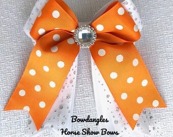 Halloween Show Bows/Beautiful Tennessee colors/hair accessory