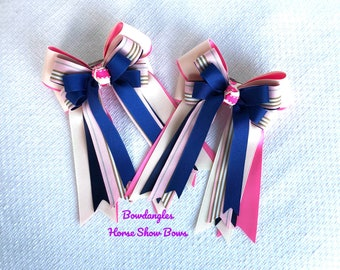 Equestrian bows, classic clothing/pink navy blue