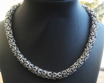 Chainmaille necklace, Chainmaille jewelry, Statement necklace, Chainmail necklace, Chainmail jewelry, Valentines day gift, Valentine gift