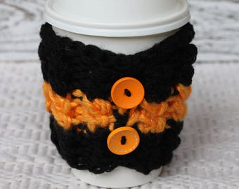 Knitted Coffee Cozy, Knitted cup cozy, gift under 5, gift under 10, cozies