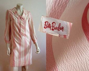 17bec7707821 1950s Dress / 50s Betty Barclay Peppermint Stripe Dress / 50s Day Dress