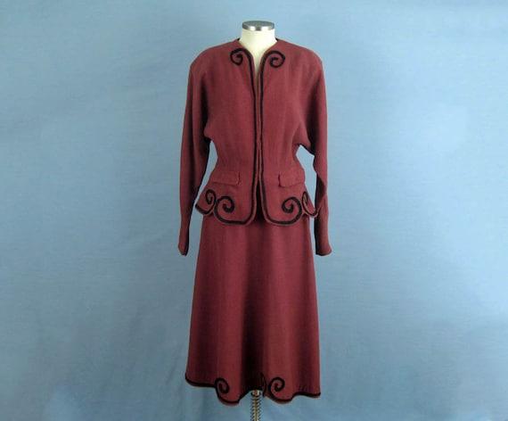 1940s Suit / 40s Suit / Tailored 2-Piece Skirt Su… - image 2