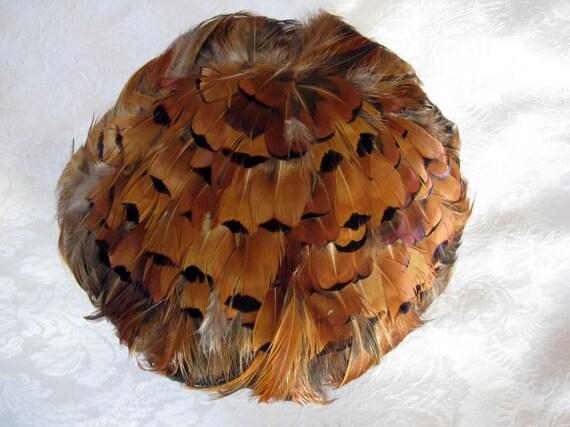 Vintage Women's Hat 50s Pheasant Feather Fascinat… - image 4