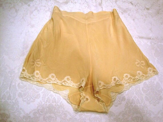 1930s Silk Tap Pants / 1930s Saks Fifth Ave Silk P