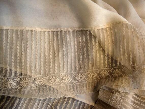 1930s Dress / 30s Silk Dress / Ivory Silk Chiffon… - image 5