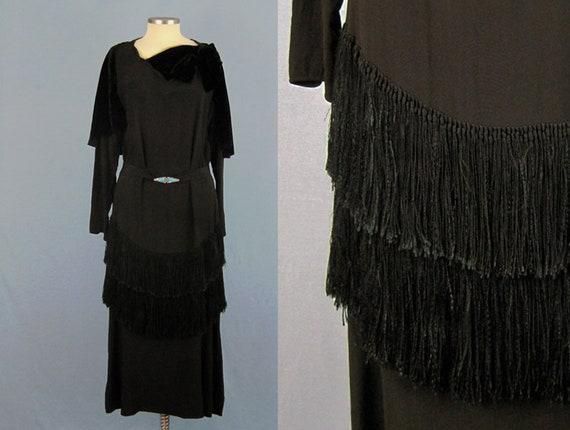 Incredible 1920s Dress / 20s Silk Dress / Silk Fr… - image 1