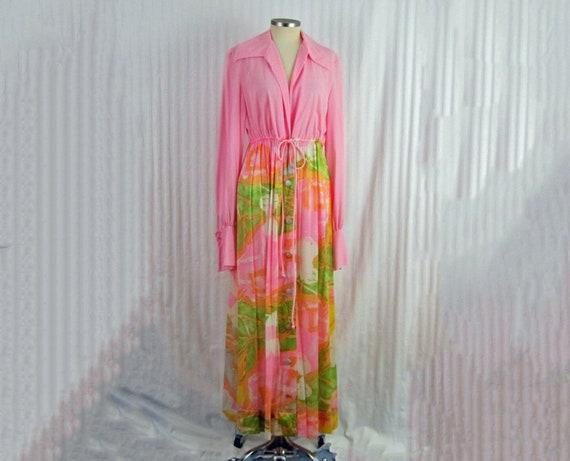 70s Vanity Fair Robe / 1970s Vanity Fair Maxi Robe