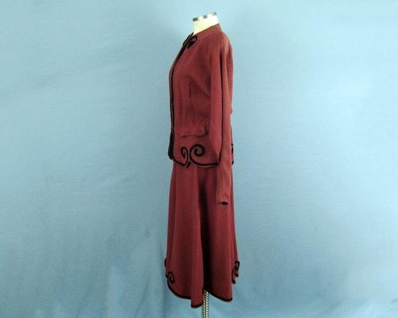 1940s Suit / 40s Suit / Tailored 2-Piece Skirt Su… - image 7