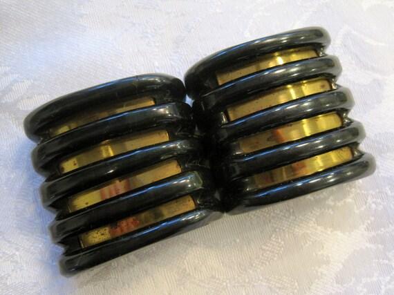 1930s Art Deco Belt Buckle / 30s Bakelite Belt Buc