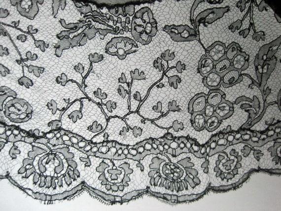 1920s Silk Dress / 20s Tabard Dress / Black Silk … - image 8