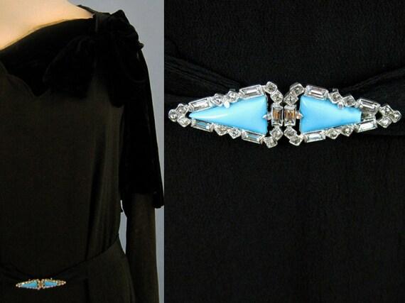 Incredible 1920s Dress / 20s Silk Dress / Silk Fr… - image 3
