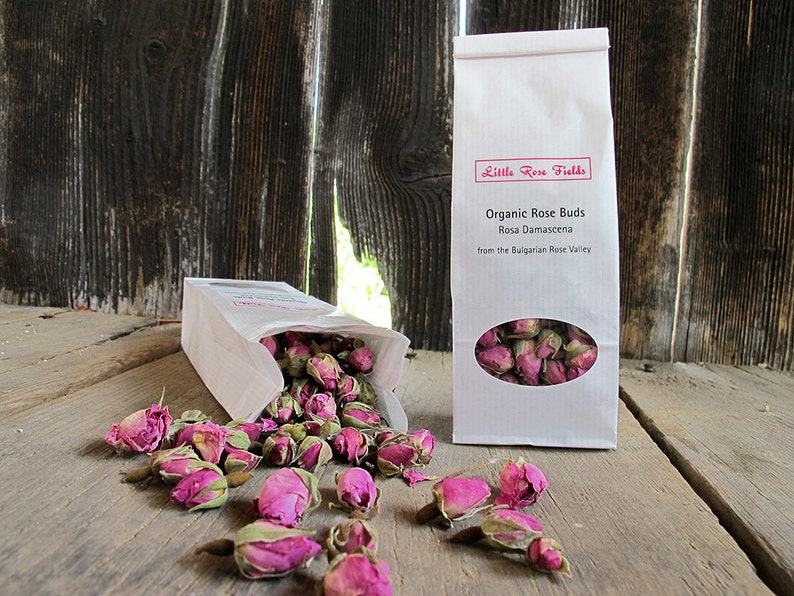 Organic Dried Rose Buds Rosa damascena  from the Bulgarian image 0