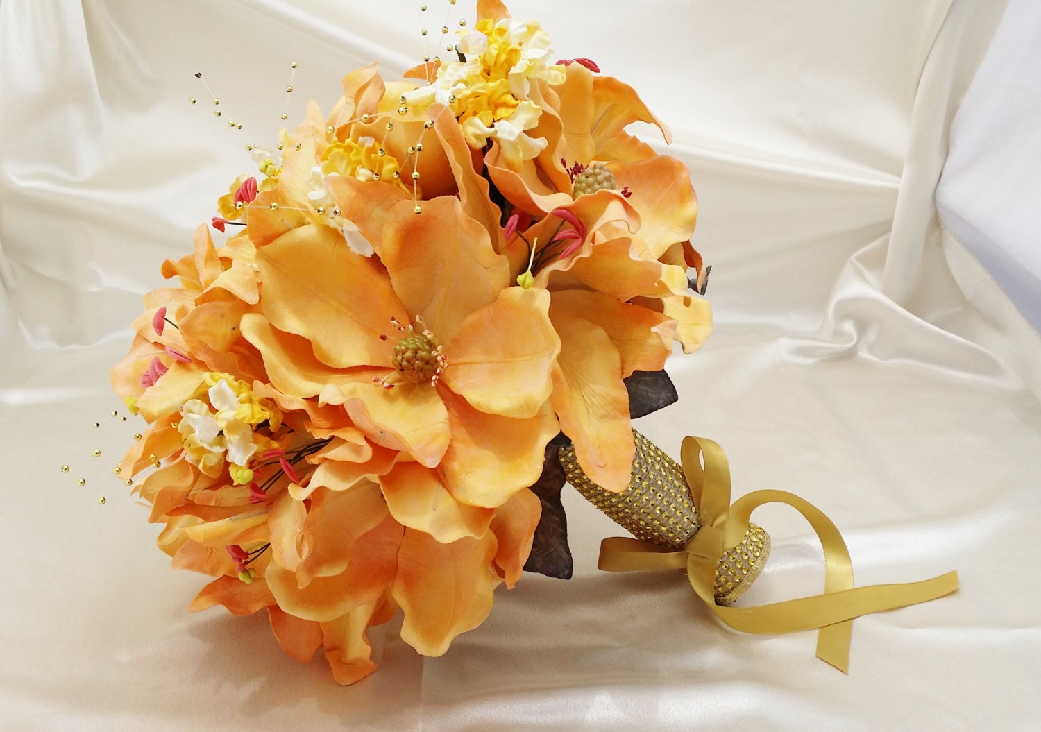 Round Bouquet 13/ Realistic Artifical Flowers/ Wedding/