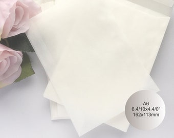 """100 Glassine Envelopes Wedding Favor Bags Seed Packets Translucent Envelopes Seed Envelopes Glassine Gift Bags Packaging A6 6.4/10x4.4/10"""""""