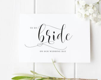 to my bride on our wedding day card from groom to bride card for bride bride proposal card card for new wife