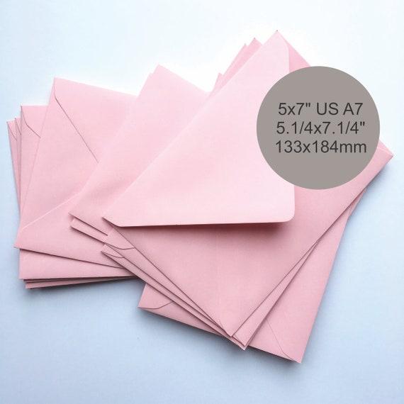 Multi Coloured DL Gummed Pastel Coloured Envelopes. 100 Pastel Colour Envelopes