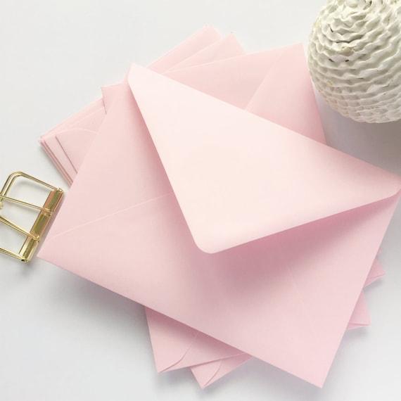 25 baby pink envelopes a7 5x7 envelopes pale pink us a7 size etsy