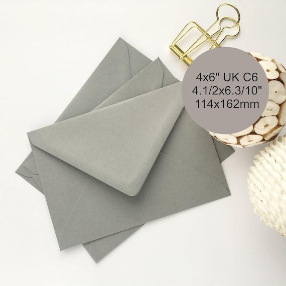50 4x6 Envelopes Grey C6 Envelopes A6 Envelopes Wedding Etsy