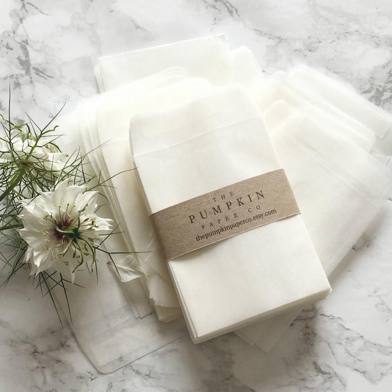 100 Seed Envelopespackets Glassine Envelopes For Wedding Favors Etsy